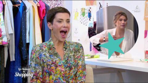 VIDEO Les Reines du shopping: le sein d'une candidate se fait la malle de son décolleté TRÈS plongeant