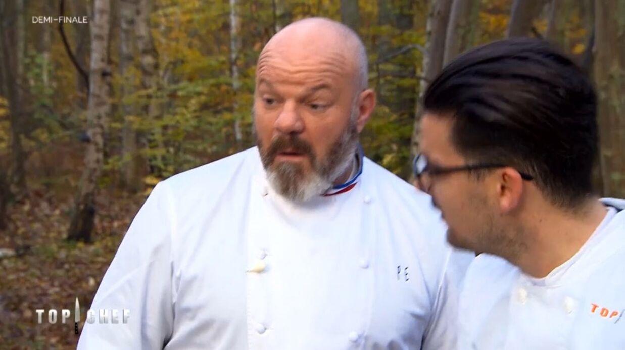 VIDEO Top Chef: étrange moment dans les bois entre Philippe Etchebest et Camille