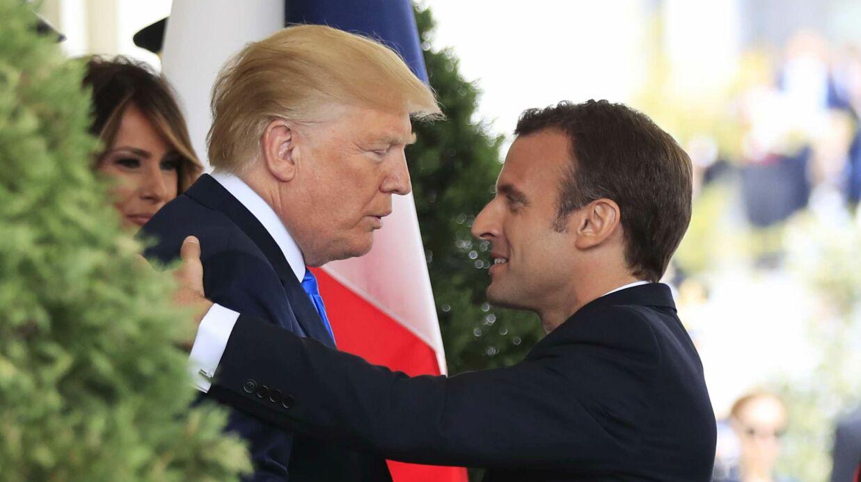 Emmanuel Macron: son geste très tendre et TRÈS ÉTONNANT envers Donald Trump
