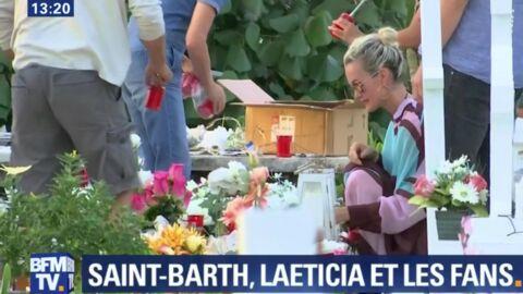 VIDEO Laeticia Hallyday: découvrez ce qu'elle a dit sur la tombe de Johnny à Saint-Barth