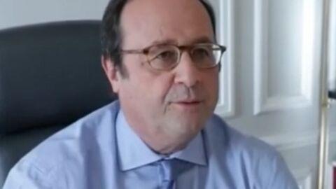 VIDEO François Hollande entouré de Thomas, Flora, Clémence et Julien, ses quatre enfants, l'instant rare