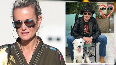PHOTO Laeticia pose avec Cheyenne, la chienne adoptée par Johnny Hallyday avant de disparaître