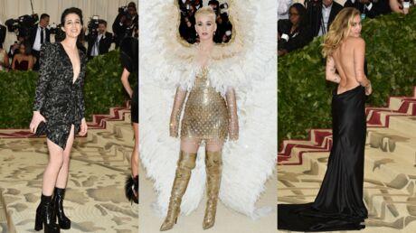 PHOTOS Met Gala 2018: Charlotte Gainsbourg très décolletée face à l'originalité de Katy Perry et Rihanna