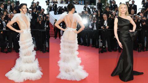 PHOTOS Festival de Cannes 2018: Kendall Jenner encore seins nus lors d'une montée des marches militante