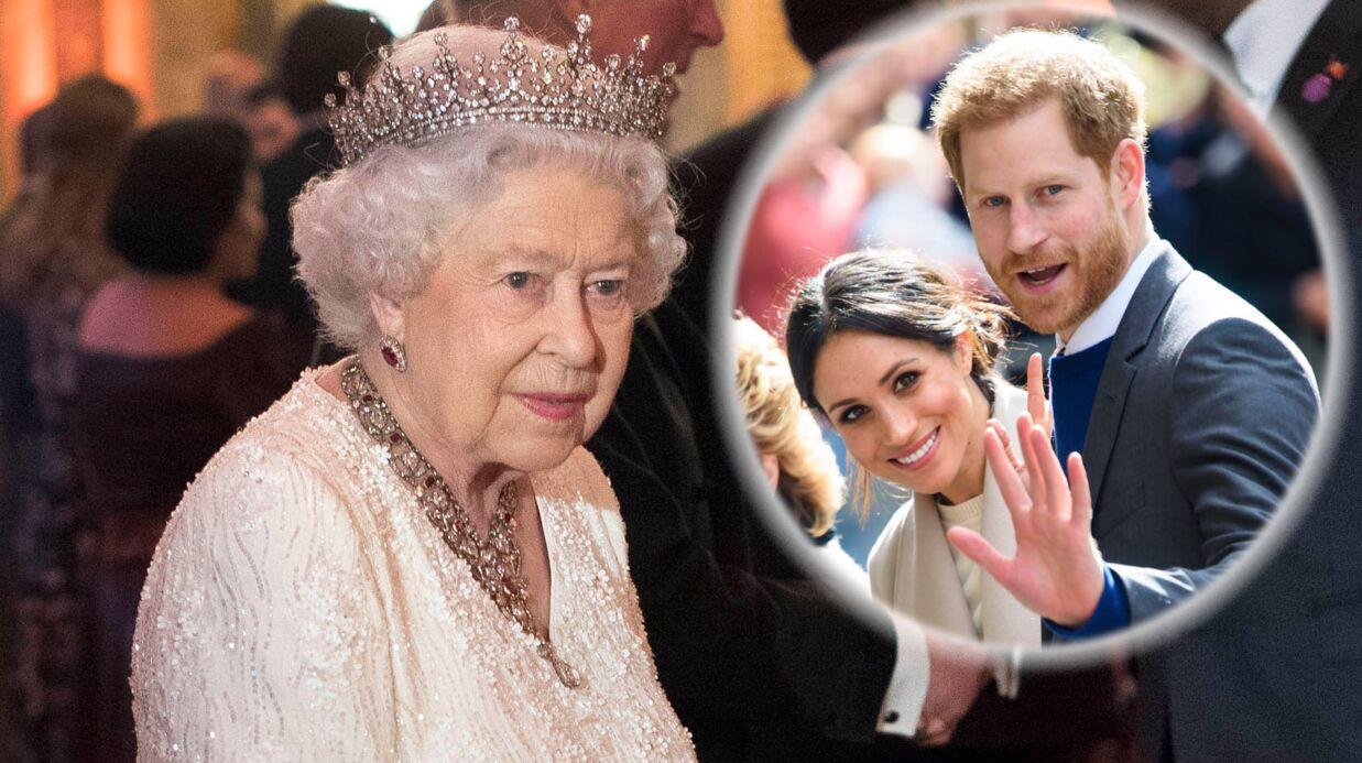 Mariage de Harry et Meghan Markle  le drame qui a poussé Elizabeth II à  donner