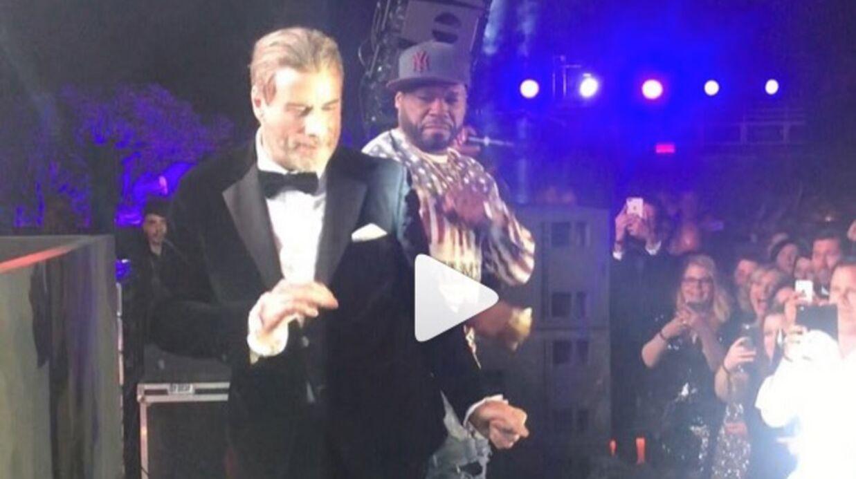 Festival de Cannes 2018: la vidéo très gênante de John Travolta dansant à côté de 50 Cent en plein live