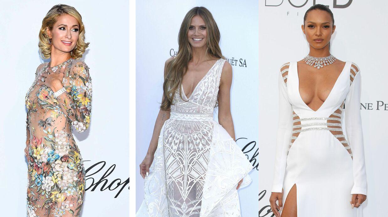 Gala de l'amfAR du Festival de Cannes: Décolleté et transparence, Heidi Klum, Paris Hilton… ont fait le show