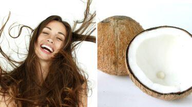 L'huile de coco câline vos cheveux