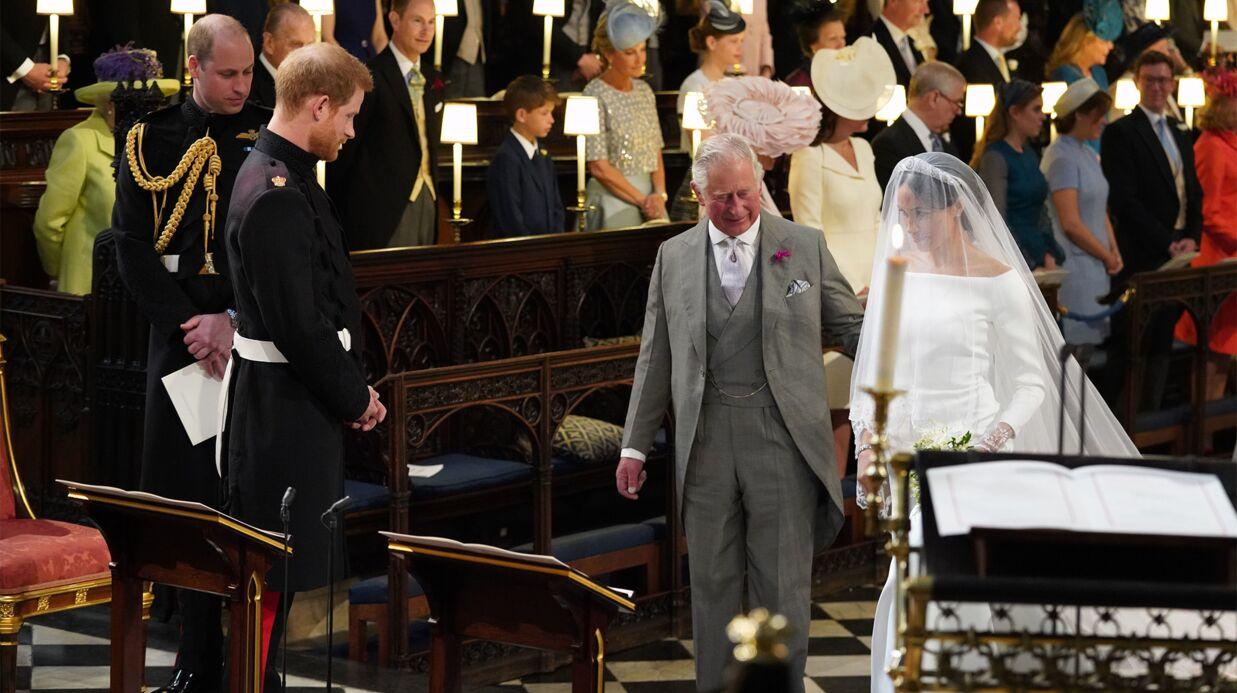 PHOTOS Mariage du prince Harry  l\u0027arrivée de Meghan Markle dans sa sublime  robe blanche