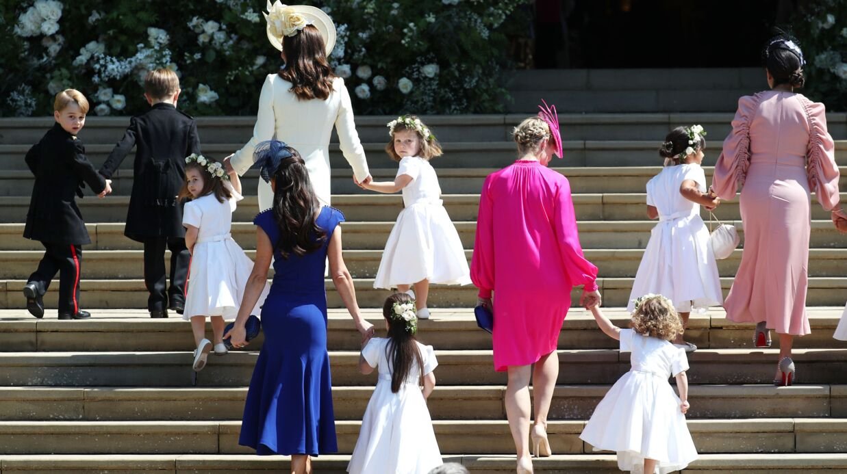 VIDEO Mariage royal: revivez l'arrivée de Kate Middleton, George et Charlotte