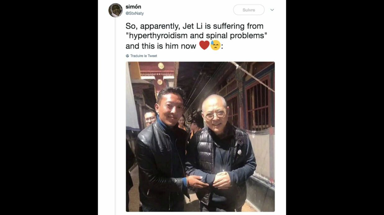 Jet li tr s malade et affai bli l ac teur de rom o doit for Arts martiaux chinois liste