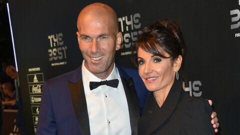 PHOTO Zinédine Zidane entouré de sa femme Véronique et de ses enfants après la victoire du Real Madrid