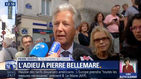 VIDEO Mort de Pierre Bellemare: Pierre Dhostel touché par le public présent aux obsèques de son père