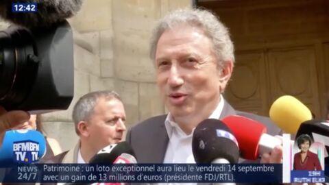 VIDEO Pierre Bellemare: les mots touchants de Line Renaud et Michel Drucker aux obsèques