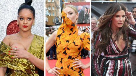 PHOTOS Ocean's 8: Rihanna manque de dévoiler un sein, les actrices luttent contre la tempête