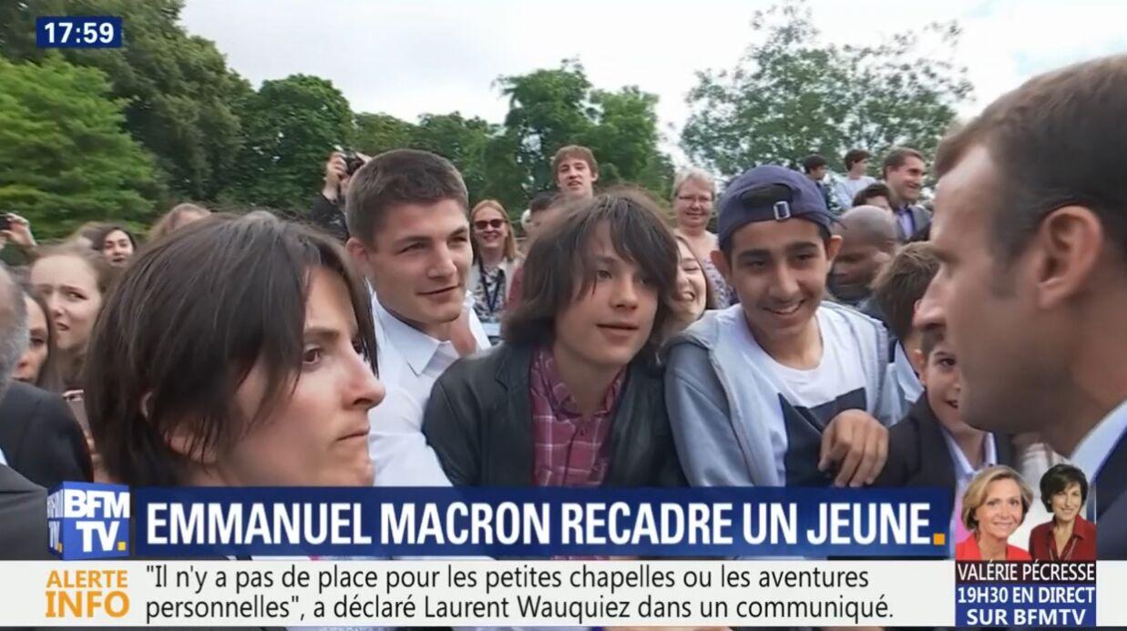 VIDEO Emmanuel Macron: le président fait la morale à un ado provocateur (et ça fait mal)