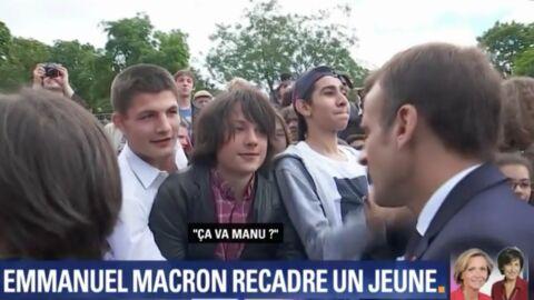 Emmanuel Macron: sa remontrance à un ado tournée en dérision par un astucieux internaute