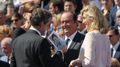 PHOTOS Chaleureuses retrouvailles pour François Hollande et Nicolas Sarkozy… et leurs femmes
