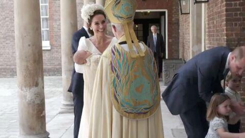 PHOTOS Baptême du prince Louis: l'arrivée de Kate Middleton et William avec le bébé