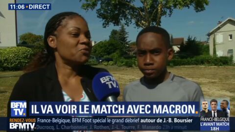 VIDEO Mondial 2018: Qui est le petit garçon aux côtés d'Emmanuel Macron pendant la demi-finale France-Belgique?