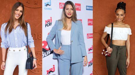 PHOTOS Iris Mittenaere, Camille Cerf, Alicia Aylies, Maëva Coucke très motivées pour soutenir les Bleus en finale