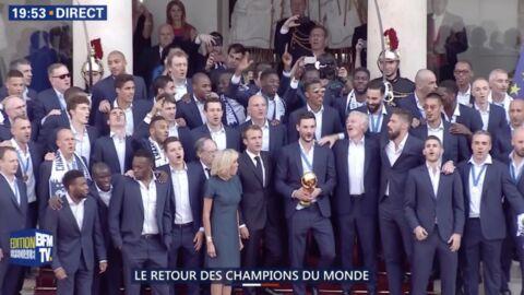 VIDEO Mondial 2018: la Marseillaise improvisée des Bleus sur le perron de l'Élysée