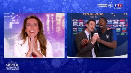 Victoire des Bleus: l'énorme gaffe de Paul Pogba avec Anne-Claire Coudray