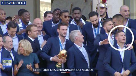 VIDEO Les Bleus à l'Élysée: un joueur dérape et chambre l'équipe de Belgique