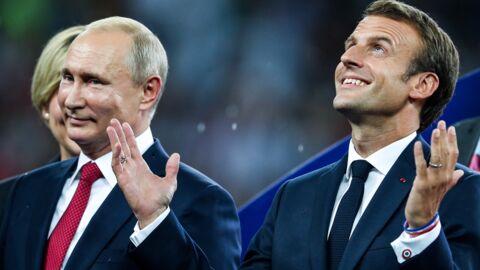 PHOTO Les Bleus champions du monde: Emmanuel Macron explose de joie