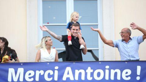 PHOTOS Antoine Griezmann accueilli en héros à Mâcon, avec sa femme et sa fille