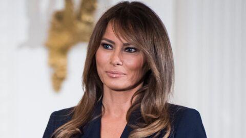 Melania Trump: sa robe se fait la malle et en dévoile presque trop