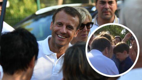 Emmanuel Macron: sa rencontre avec le petit Maxime était préméditée