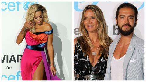 PHOTOS Rita Ora en plein accident de robe TROP fendue, Heidi Klum et Tom Kaulitz langoureux au gala de l'UNICEF