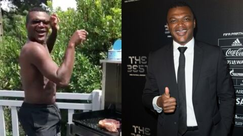 Quand Marcel Desailly s'attaque au barbecue en short de bain, en dansant sur de la techno