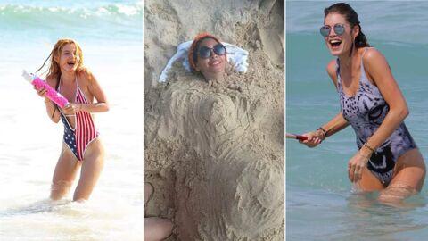 PHOTOS Les people à la plage: ils s'amusent comme des gosses!