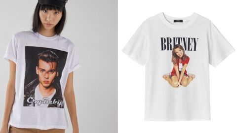 A shopper: les tee-shirts revival Britney Spears et Johnny Depp chez Bershka