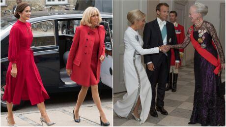 PHOTOS Brigitte Macron en robe très courte ou longue et fendue, elle rayonne au Danemark