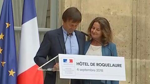 VIDEO Nicolas Hulot: le geste tendre de sa femme lors de sa démission