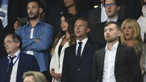 PHOTOS Emmanuel Macron aux anges et Brigitte en tenue scintillante dans les tribunes du Stade de France