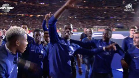 VIDEO Mondial 2018: les Bleus fêtent leur titre de champions du monde au stade de France