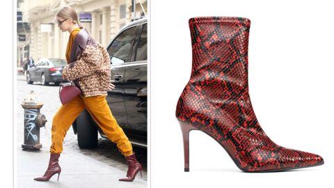 Gigi Hadid: ses bottines à imprimé serpent coûtent moins de… 50 euros!