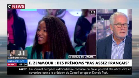 """VIDEO Clash Eric Zemmour/Hapsatou Sy: un journaliste dérape en direct et appelle la chroniqueuse """"Hafissatou"""""""