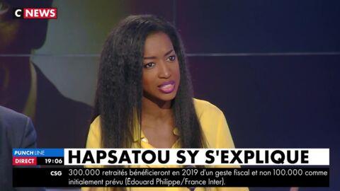 VIDEO Hapsatou Sy, très émue pour son retour à la télévision, somme Eric Zemmour de s'excuser