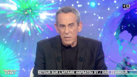 VIDEO Clash Eric Zemmour / Hapsatou Sy: Thierry Ardisson regrette d'avoir parlé des problèmes financiers de la chroniqueuse