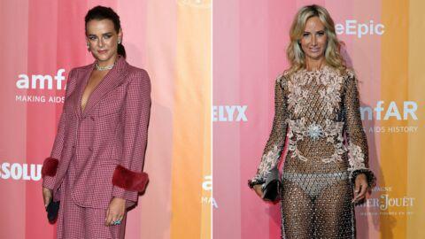 PHOTOS Pauline Ducruet très chic et Lady Victoria Hervey à moitié nue au Gala de l'amfAR à Milan
