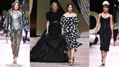 PHOTOS Carla Bruni, Monica Bellucci, Eva Herzigova canons au défilé Dolce & Gabbana