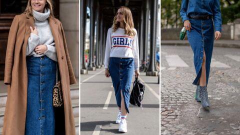Style coach: 3 façons de porter la jupe en jean