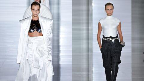 Fashion Week printemps été 2019: Cara Delevingne éblouissante au défilé Balmain