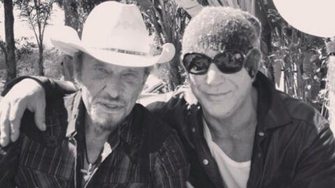 PHOTO Johnny Hallyday: son ami Mickey Rourke lui rend un nouvel hommage
