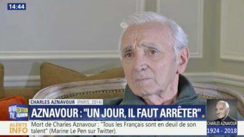 VIDEO Mort de Charles Aznavour: ce jour où il évoquait la fin de sa carrière